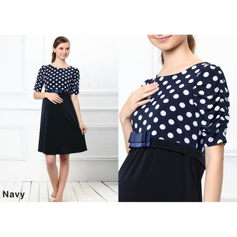 Switch Dot Design Maternity and Nursing Dress