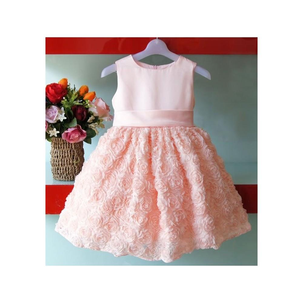 Vestiti Cerimonia Bambina 6 Anni.Vestito Rosa Da Damigella Partylook