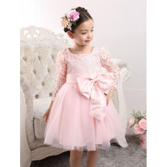 Flower girl formal dress white colour 100-140cm