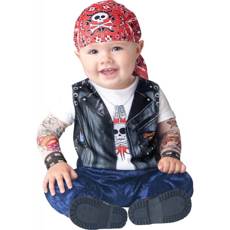 Incharacter Costume Carnevale Motociclista per Bambini 0 - 6M