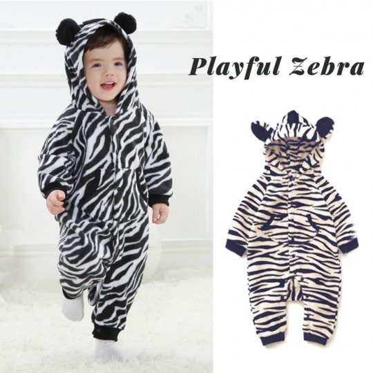 Zebra baby jumpsuit and carnival costume
