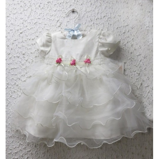 Robe blanche de bapteme/cérémonie petite fille 3-24M