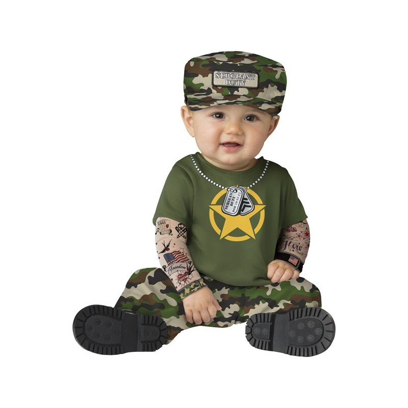Costume Carnevale Sergente per bambino Incharacter 6-24 mesi