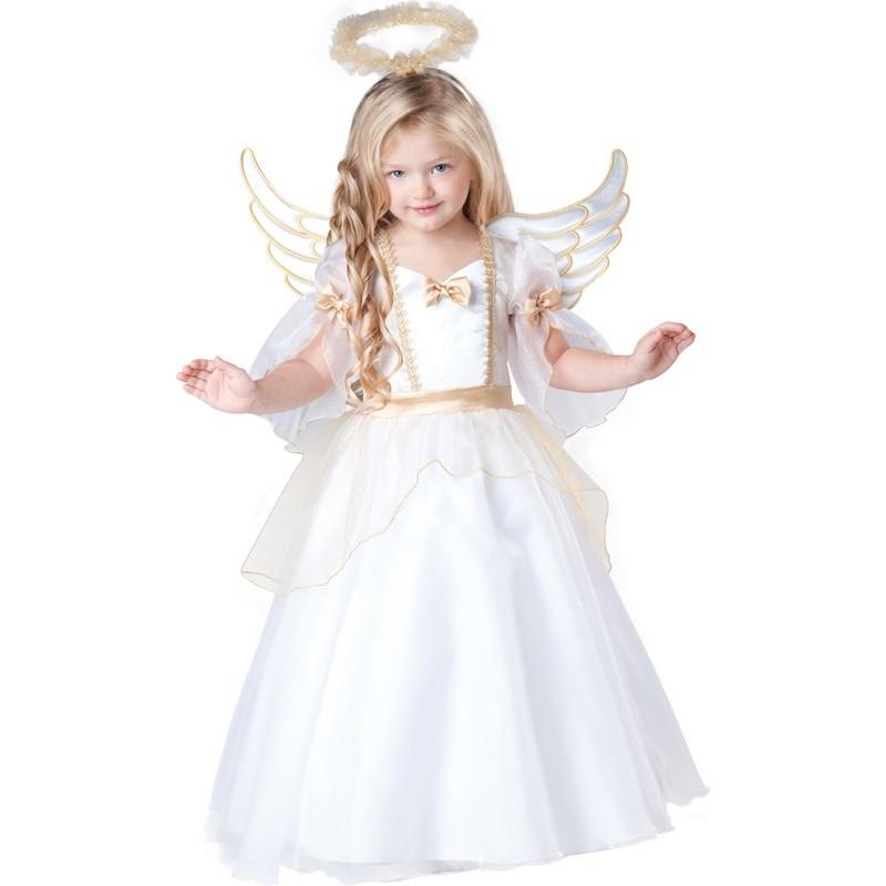 Incharacter Costume de Carnaval petite fille Ange 2-4 ans