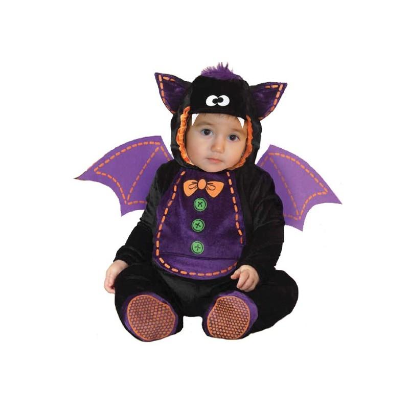 Costume Carnevale Halloween Pipistrello per bambino 3 anni