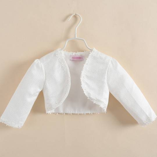 Girl Formal Bolero White 100 - 150cm