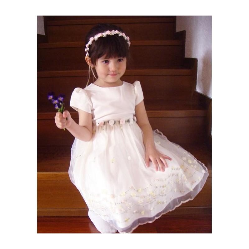 Robe de Cérémonie Fille/Demoiselle d'honneur Blanche 2-5 ans