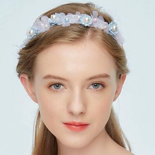 Adjustable light blue headband for ceremonies