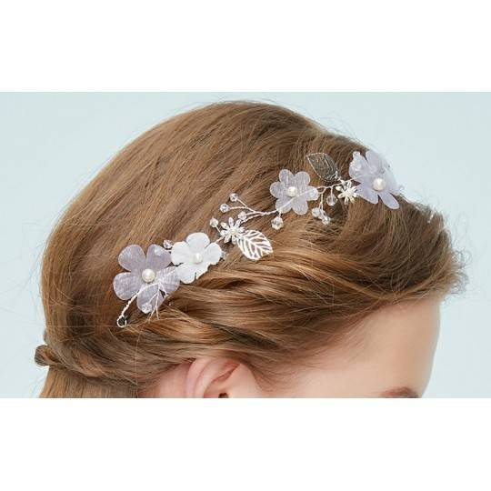 Decorated little girl headband for ceremonies