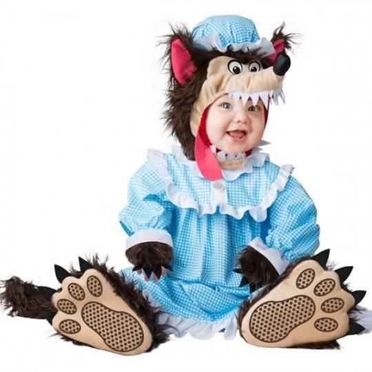 Costume Carnevale Lupo Cattivo per Bambino Incharacter 0-24 mesi
