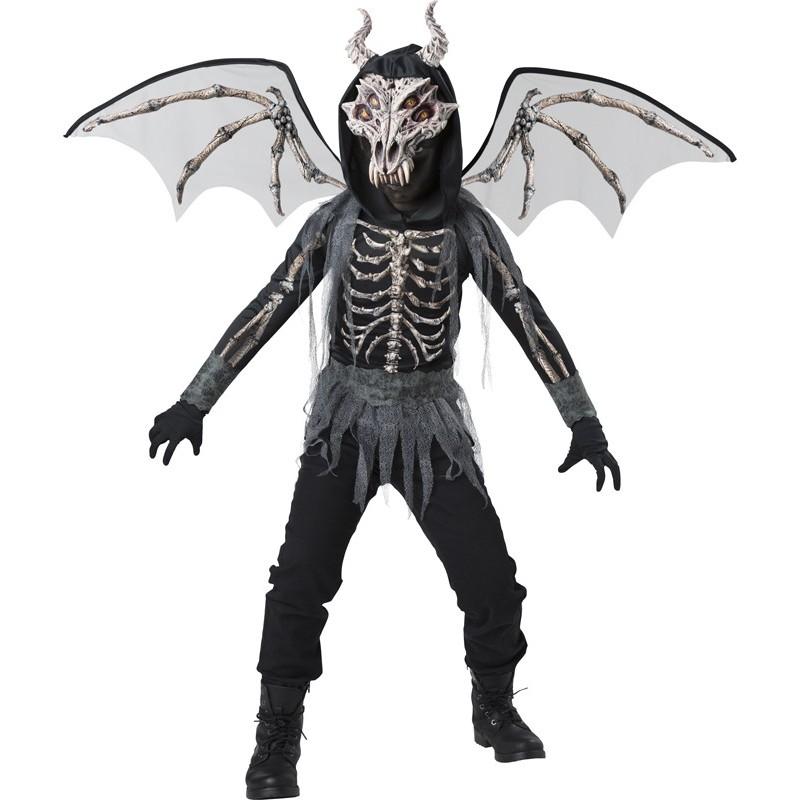 Costume Carnevale Halloween Incharacter Drago Scheletro 5-12 anni
