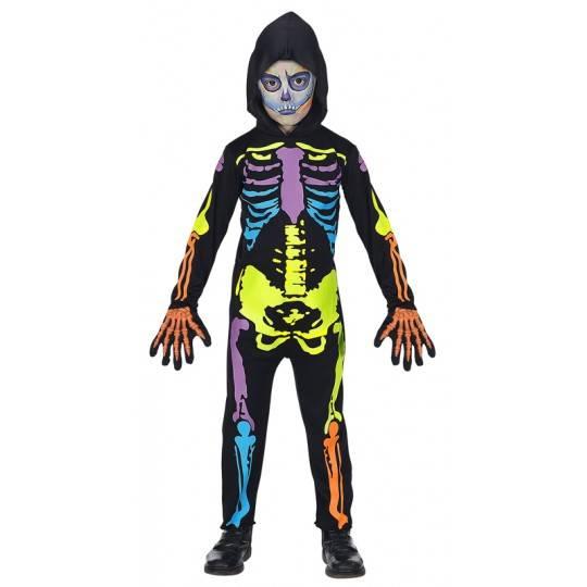 Costume squelette coloré 5-13 ans