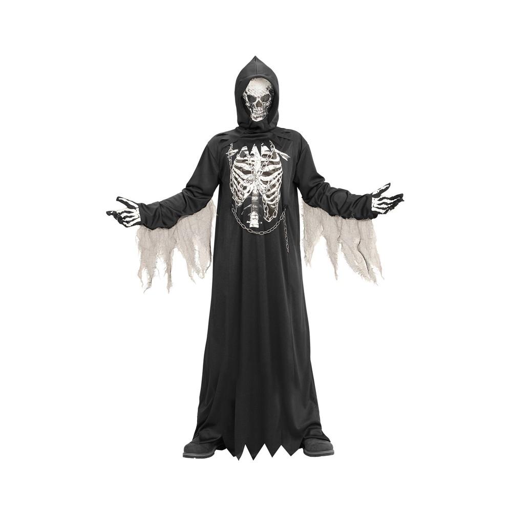BOYS GREY Zombie Morto Pirata Halloween Costume Vestito 4-12 ANNI