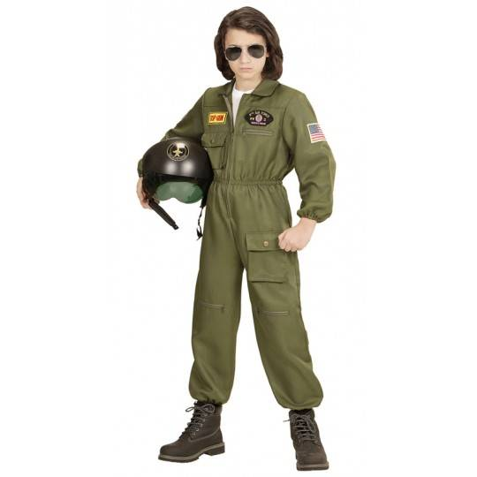 Costume de pilote d'avion de chasse 8-13 ans