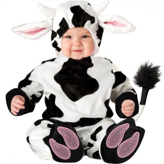 Costume Carnevale Mucca per Bambino 3 anni