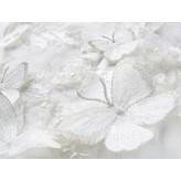 Abito bimba da damigella bianco ricamato 110-160cm