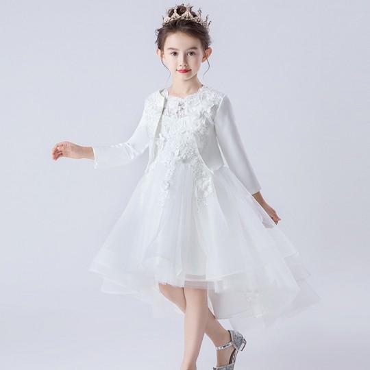 Bolerino Ricamato Bambina Bianco 90-160cm