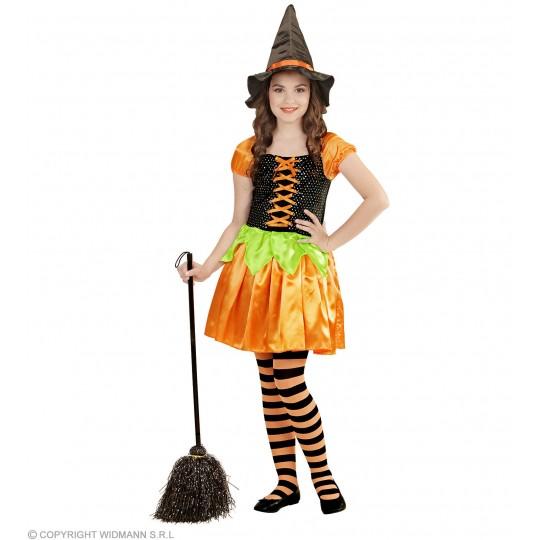 Costume de sorcière citrouille 4-13 ans