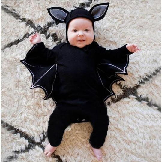 Costume/tutina di Halloween da pipistrello per bambino