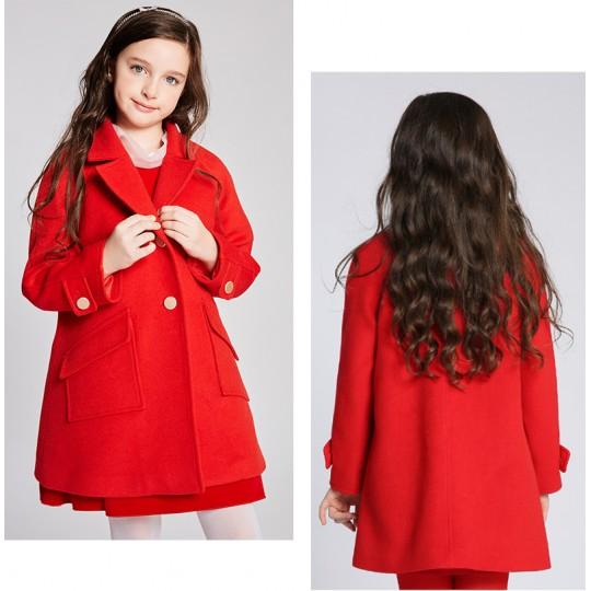 Cappottino natalizio rosso con gilet imbottito staccabile 110-160cm