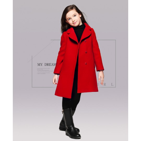 Girl christmas red coat 110-120cm