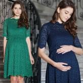 Robe de grossesse et allaitement de cérémonie en dentelle
