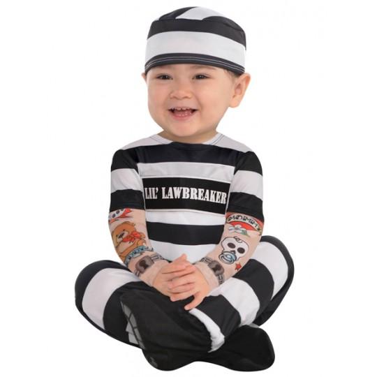 Costume Carcerato 3-24 mesi
