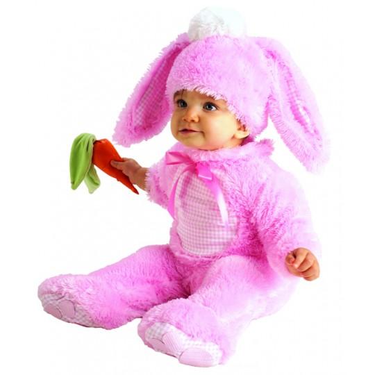 Costume de Lapin Rose 0-24 mois