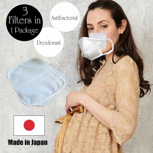 Filtres lavables pour masque avec effet antibactérien et anti-odeurs